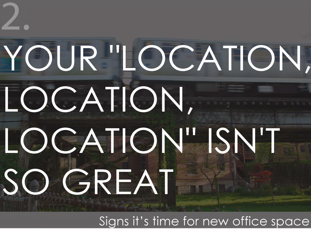 "Your ""location, location, location"" isn't so great"